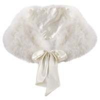 Chesca Feather Stole Ivory