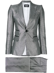 Dsquared2 Metallic Two Piece Suit Silver