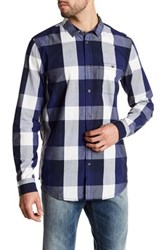 Bench Button Up Plaid Shirt Blue