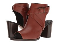 Wolverine Piper Open Toe Boot Brown Leather High Heels