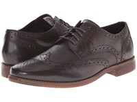 Rockport Style Purpose Wingtip Dark Bitter Chocolate Men's Lace Up Wing Tip Shoes Gray