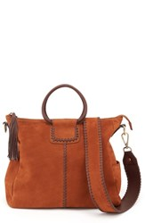 Hobo Sheila Convertible Leather Satchel Brown Tobacco