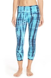Women's Hard Tail Tie Dye Capri Leggings