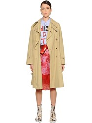 Maison Martin Margiela Light Cotton Canvas Trench Coat