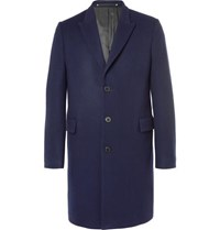 Paul Smith Wool And Cashmere Blend Coat Navy