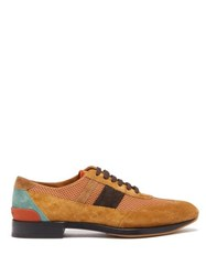 Burberry Kirkby Suede And Mesh Trainers Brown Multi