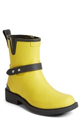 Rag And Bone Women's Rag And Bone Moto Rain Boot Yellow Rubber