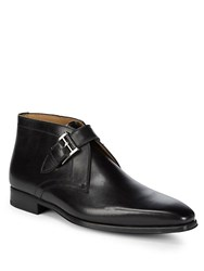 Saks Fifth Avenue Slim Monk Strap Boots Black