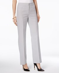 Kasper Pinstripe Seersucker Pants White Black