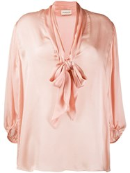 Alexandre Vauthier Loose Fit Bow Blouse Pink