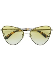 Mcq By Alexander Mcqueen Eyewear Oversized Gradient Sunglasses Metallic