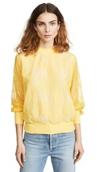 Clu Lace Pullover Yellow
