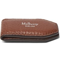 Mulberry Full Grain Leather Money Clip Brown