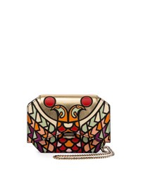 Givenchy Bow Cut Bird Head Wallet On A Chain Multi Multi Colored