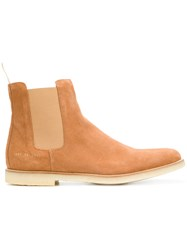 Common Projects Chelsea Boots Yellow And Orange
