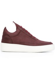 Filling Pieces 'Ghost' Low Top Sneakers Red