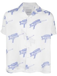 Nasaseasons Water Guns Print Shirt White