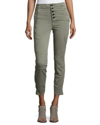 J Brand Brigitte Sky High Utility Cropped Cargo Pants Gray