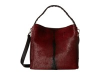 Furla Capriccio Medium Hobo North South Rubino Onyx Hobo Handbags Brown