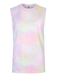 Topman Multicoloured Tie Dye Visions Print Oversized Tank Top