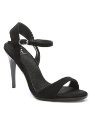 Daniel Micklegate One Bar Ankle Strap Sandals Black