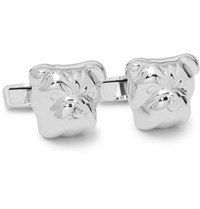 Dunhill Bulldog Rhodium Plated Cufflinks Silver