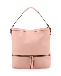 Neiman Marcus Penelope Faux Leather Hobo Bag Blush