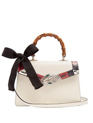 Gucci Lilith Bamboo Handle Leather Bag White