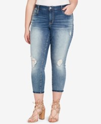 Jessica Simpson Trendy Plus Size Ripped Cropped Jeans Tokion
