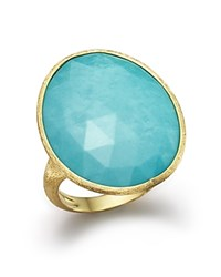 Marco Bicego 18K Yellow Gold Turquoise Ring 100 Bloomingdale's Exclusive Blue Gold
