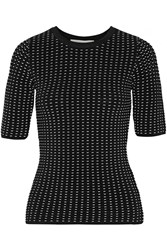 Jonathan Simkhai Ladasha Textured Stretch Knit Top Black