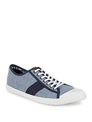 Ben Sherman Earl Textured Lace Up Sneakers Navy