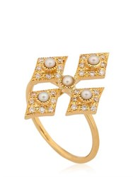 Perlota For Eva Cross Midi Ring