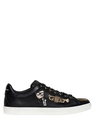 Dolce And Gabbana Musical Designers Leather Sneakers