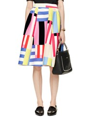 Kate Spade Multi Stripe Midi Skirt