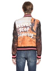 Php Never Hand Painted Leather Bomber Jacket