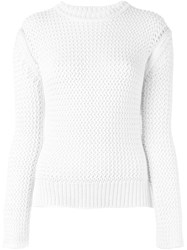 Joseph Crew Neck Jumper White