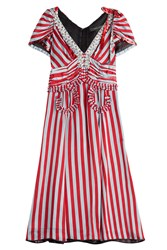 Marc Jacobs Striped Dress With Sequin And Crystal Embellishment Stripes