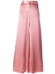 Valentino Wide Leg Flared Trousers Nude Neutrals