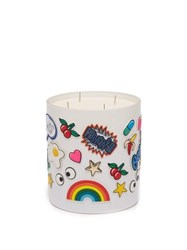 Anya Hindmarch Smells Chewing Gum Large Scented Candle White Multi