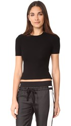 Getting Back To Square One The Short Sleeve Crop Crew Tee Black