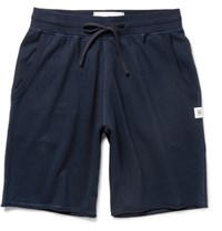 Reigning Champ Loopback Cotton Jersey Shorts Navy