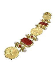 Tagliamonte Classics Collection 18K Gold And Ruby Link Bracelet