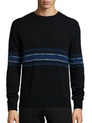 Plac Retro Spectrum Striped Mohair And Wool Blend Sweater Black