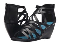 Blowfish Blip Black Dyecut Pu Women's Wedge Shoes