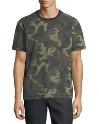 True Religion Loose Fit Camouflage Print T Shirt