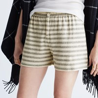 Madewell Lounger Pajama Shorts In Stripe