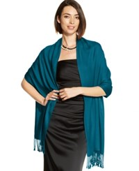 Inc International Concepts Satin Pashmina Wrap Only At Macy's Peacock