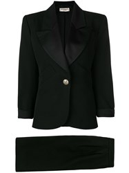 Yves Saint Laurent Vintage Peaked Lapel Tuxedo Suit Black