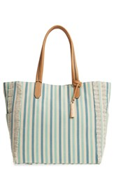 Vince Camuto Iona Canvas Tote Blue Turquoise Multi